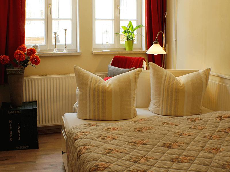 Ferienhaus Stobenstrasse Couch bezogen