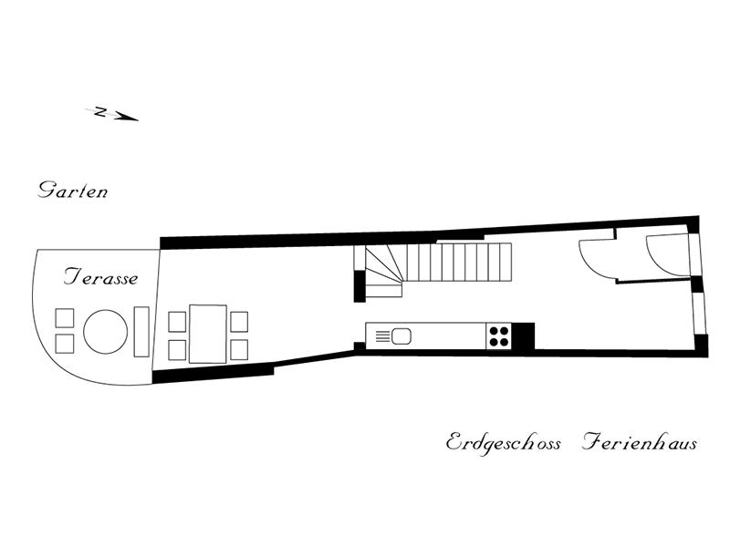 Ferienhaus Stobenstrasse Grundriss EG