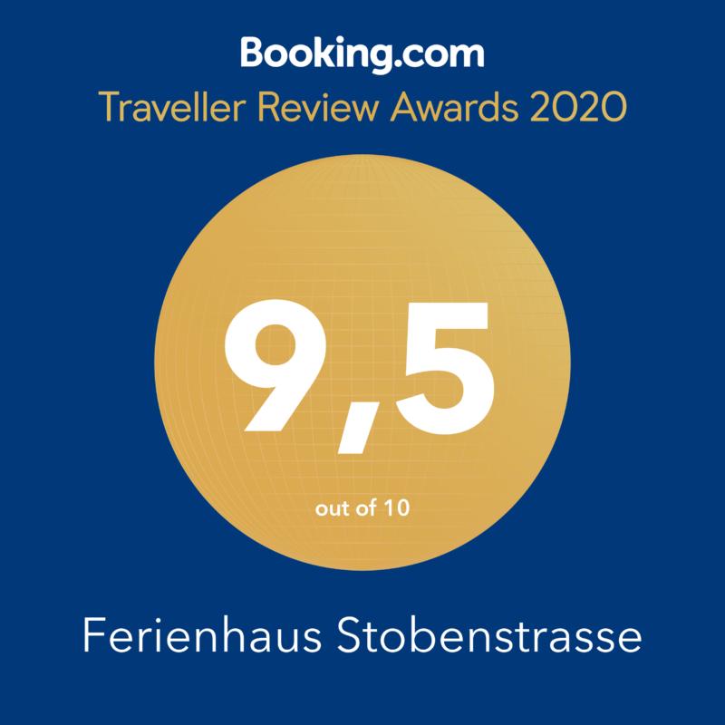 Booking.com Traveller Review Awars 2020, Ferienhaus Stobenstrasse